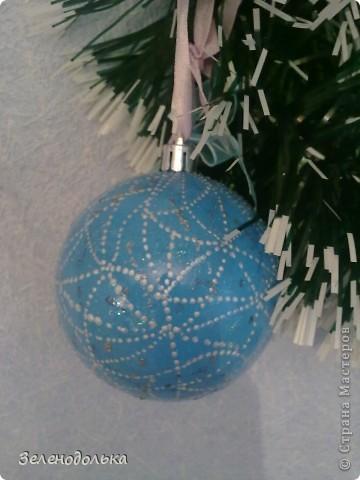 Хочу поделиться с вами новогодними поделками))) Получилась у меня серия елочных игрушек, винтажных  по моему))) фото 5