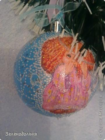 Хочу поделиться с вами новогодними поделками))) Получилась у меня серия елочных игрушек, винтажных  по моему))) фото 2