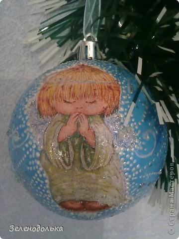 Хочу поделиться с вами новогодними поделками))) Получилась у меня серия елочных игрушек, винтажных  по моему))) фото 3