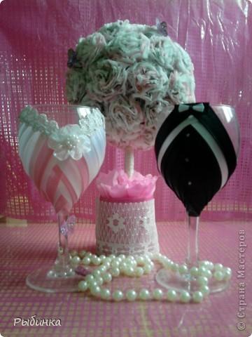 Эти бокалы сестре на розовый юбилей свадьбы(10лет) фото 1