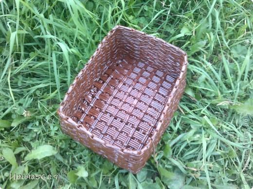 Вот что успела сплести за лето. Это вазочка для мамы под цветочки. фото 5