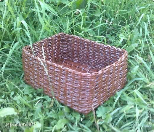 Вот что успела сплести за лето. Это вазочка для мамы под цветочки. фото 6