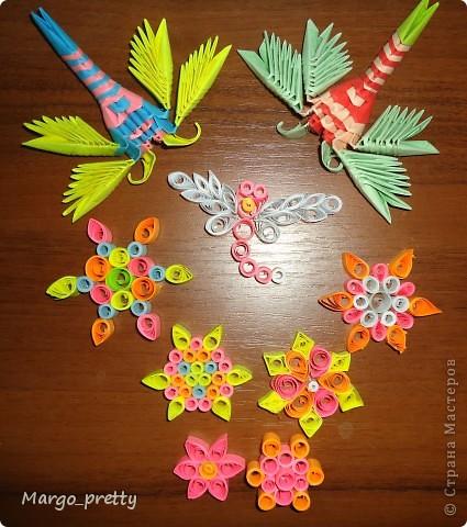 Цветочки и стрекозы