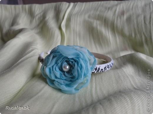 Декор предметов ободок цветок фото 1