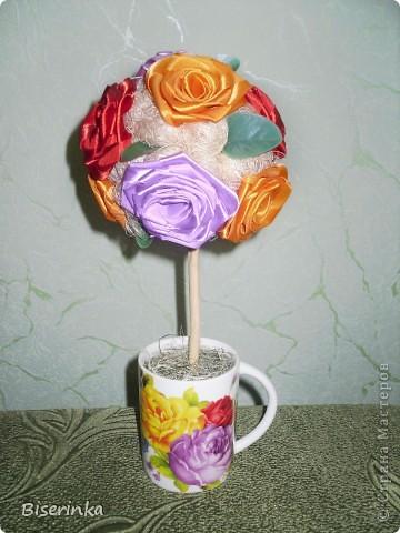 Мои любимые подсолнушки! Крона из цветков подсолнуха и шариков сизаля. фото 3