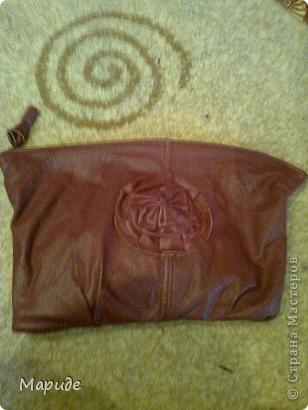 Кожаная сумка-косметичка
