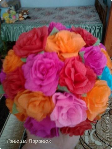 Букет роз + МК фото 2