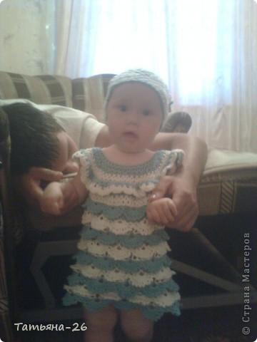 Новое платьице для моей дочуры. Идею позаимствовала у автора АлёЁёнуШка http://stranamasterov.ru/node/372389?c=favorite, только немного изменила. К сожалению фото не очень качественные. фото 5