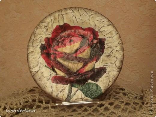 "Тарелка ""Роза"" фото 1"