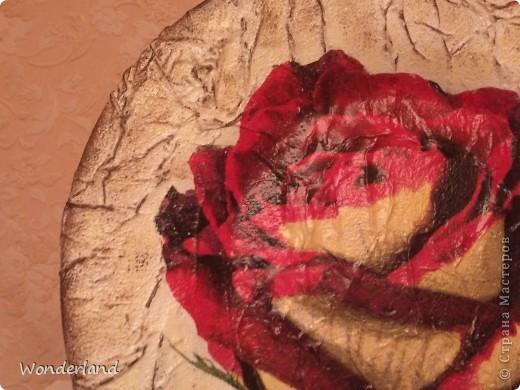 "Тарелка ""Роза"" фото 2"