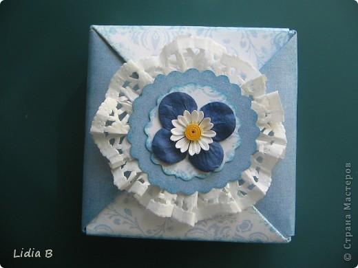 Сегодня наткнулась на очаровательную коробочку из оригами-модулей. фото 1