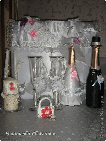 Вот такой свадебный наборчик собрался!Делала всё с большим удовольствием! фото 3