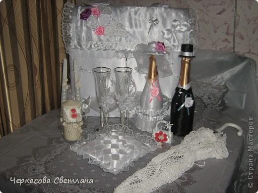 Вот такой свадебный наборчик собрался!Делала всё с большим удовольствием! фото 2