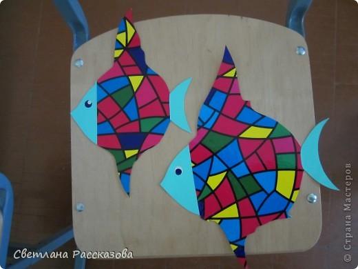 Для моей задумки (ремонт в кабинете психолога) нужны летающие рыбки. Начала с эскиза фото 4