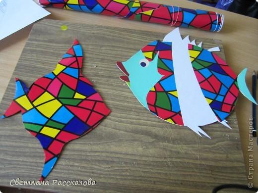 Для моей задумки (ремонт в кабинете психолога) нужны летающие рыбки. Начала с эскиза фото 5