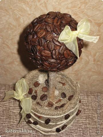 Всем, добрый вечер! Вот и я смастерила кофе-деревце. Есть недостатки, но я всё равно очень рада результатом. А какое ароматное!!! фото 2