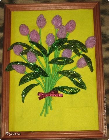 Вот такие у меня получились тюльпаны