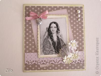 Открытка  для молодой девушки, будет подарена с тарелками в подобном стиле (декупаж...покажу в след.посте) это шекспировская Беатриче (вот тут я их нашла  http://www.crown6.org/publ/18-1-0-2206  ) ..Поэт мечтал тебя предугадать, Но всю тебя не мог он передать..  фото 1