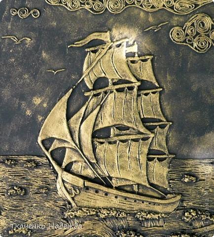 Корабль из соленого теста своими руками пошаговое фото