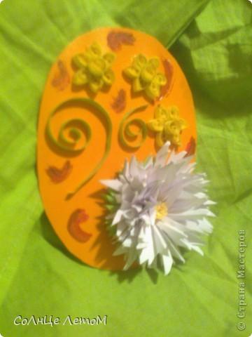Евгеша, Спасибо огромное за мастер класс игольчатой астры (http://stranamasterov.ru/node/23788?c=favorite_c )! Очень красивый цветок! Провод найти не смогла, для панно использовала. Не судите строго, это моя первая работа по квиллингу!  фото 1