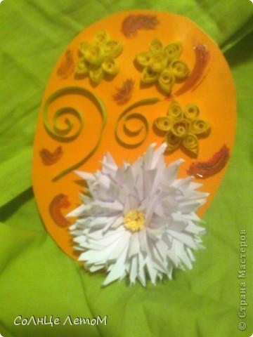 Евгеша, Спасибо огромное за мастер класс игольчатой астры (http://stranamasterov.ru/node/23788?c=favorite_c )! Очень красивый цветок! Провод найти не смогла, для панно использовала. Не судите строго, это моя первая работа по квиллингу!  фото 2