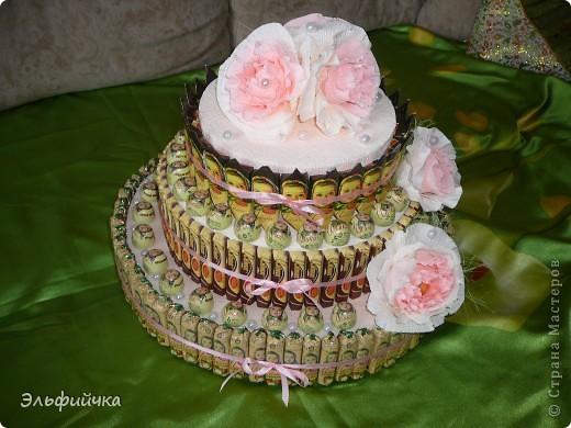 Заказали на юбилей торт из конфет. Условием было все конфеты Аленки, так как юбиляршу зовут Елена)) фото 4