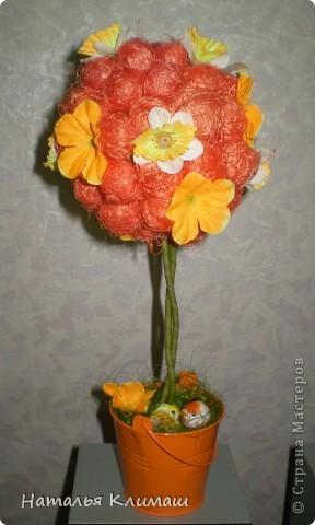 Это мой очередной топиарий, очень нравится оранжевый цвет! фото 1