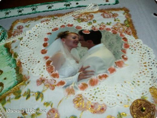 Это открыточка для мужа на годовщину свадьбы, без каких-либо спец. материалов для скрапбукинга, кроме фигурных ножниц. фото 8