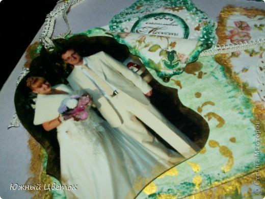 Это открыточка для мужа на годовщину свадьбы, без каких-либо спец. материалов для скрапбукинга, кроме фигурных ножниц. фото 10