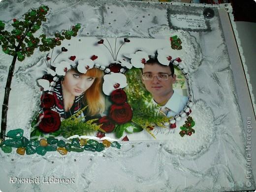 Это открыточка для мужа на годовщину свадьбы, без каких-либо спец. материалов для скрапбукинга, кроме фигурных ножниц. фото 11
