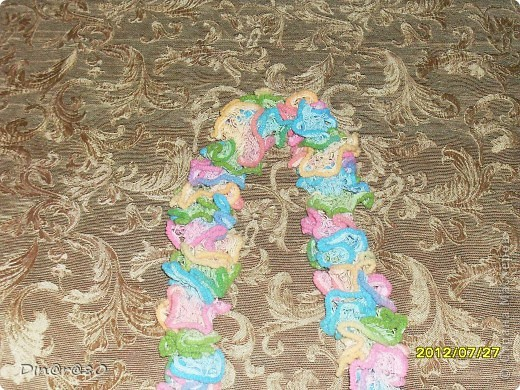 Вот такой шарфик для дочки связала из ленточной пряжи!  фото 1