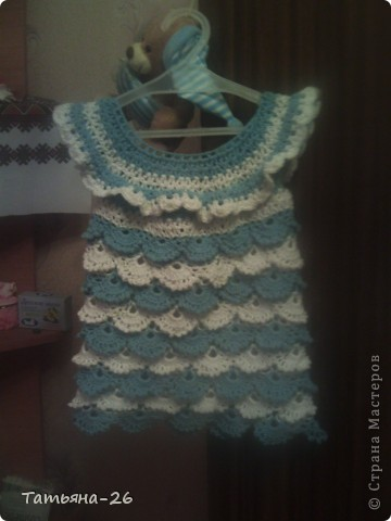 Новое платьице для моей дочуры. Идею позаимствовала у автора АлёЁёнуШка http://stranamasterov.ru/node/372389?c=favorite, только немного изменила. К сожалению фото не очень качественные. фото 1