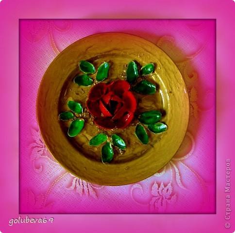 Тарелочка декорированная ракушками. фото 4