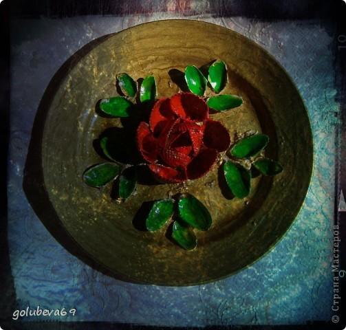 Тарелочка декорированная ракушками. фото 5