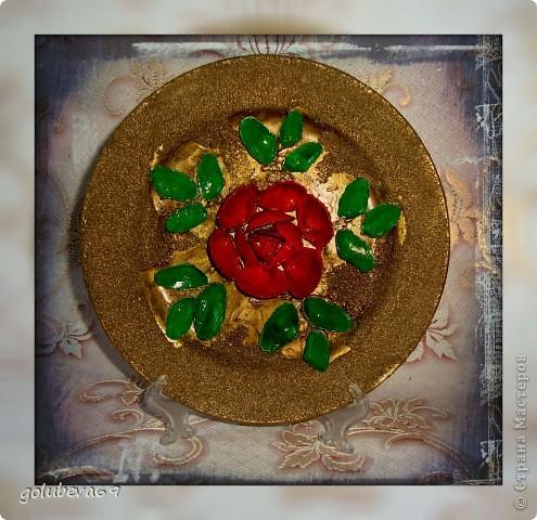 Тарелочка декорированная ракушками. фото 2