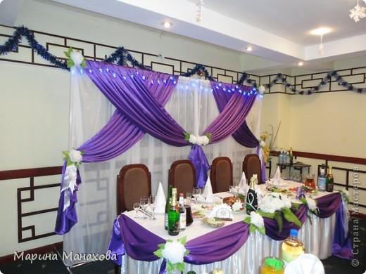 Свадебный сезон у меня начался с большого количества заказов по оформлению залов в бело-фиолетовом и бело-сереневом цветах. Так как все оформление у меня модульное, стоит изменить хотя бы что-то одно и вся композиция уже смотриться совсем по другому. фото 6