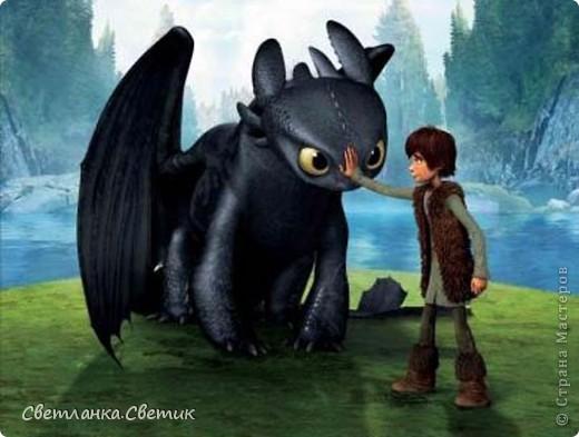 """Я думаю многие смотрели мультик """"Как приручить дракона"""".Это моя версия дракона по имени Беззубик,а если точнее его зеленой сестры(конечно в мультике ее нет,но кто запретил фантазировать?) фото 6"""