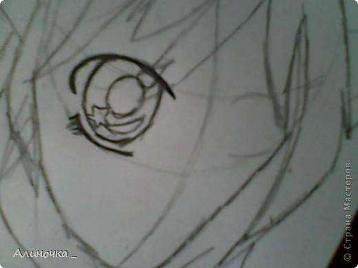 в 1 части мы начнём с лица .___. , насчёт лица мы рисуем девушку как вы поняли ))))) .Но 1 будет лицо...потом волосы...а до это мы дойдём давайте начнём  Первое рисуем , на мечание глаза =_= а то мне некоторые говорили не правильно рисуешь глаза...у каждого свой стиль .... фото 4