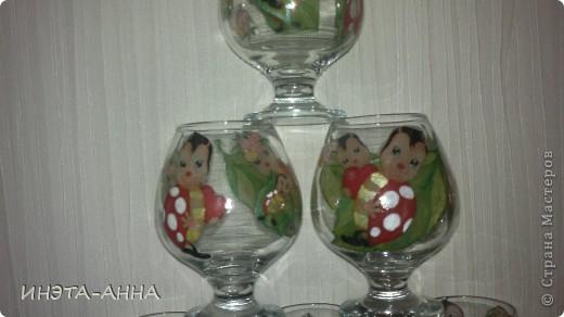 """бокалы """"веселушки-хохотушки"""" фото 2"""