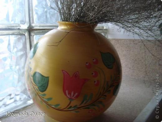 Вот такие вазы мы сделали из старых плафонов. Рисовали акриловыми красками. фото 4