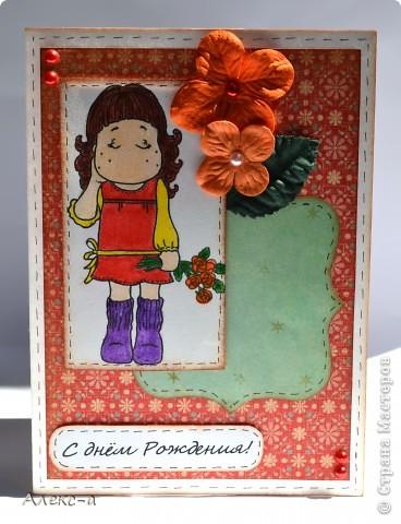 первой покажу свою самую любимую... цветочки самодельные,тычинки внутри тоже,как и бумага с брызгами)  фото 4