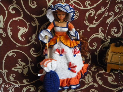 Вязаный наряд для куклы фото 2