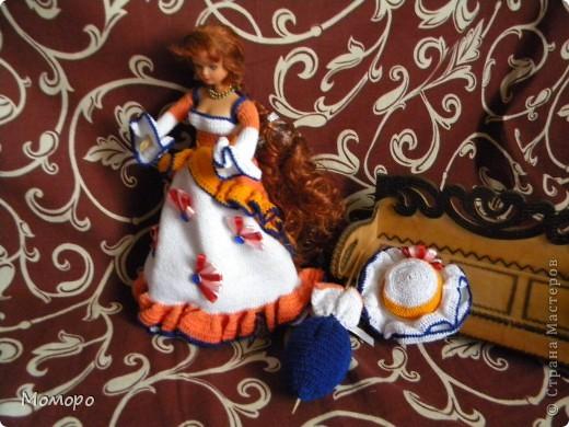 Вязаный наряд для куклы фото 1
