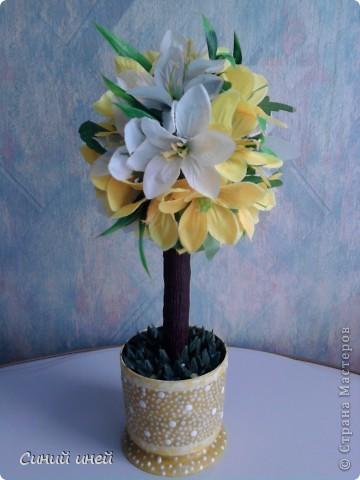 Новый топиарий: теперь цветочное дерево. фото 1