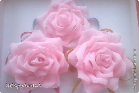 Объемная хризантема канзаши. На неведимке. Я считаю что немного криво)) фото 3