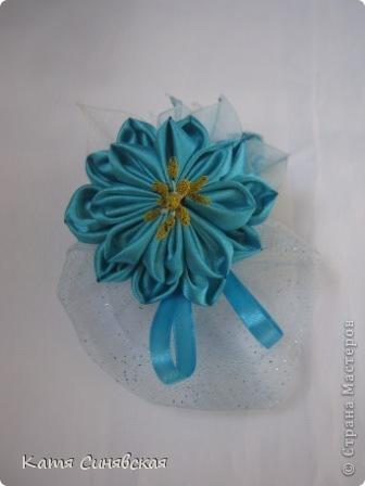 Цветочек с мешочком из фатина(туда будет прятаться кончик волос) фото 2