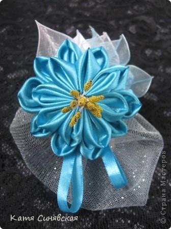 Цветочек с мешочком из фатина(туда будет прятаться кончик волос) фото 1