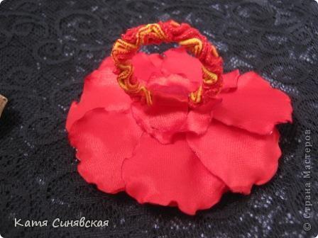 Цветочек с мешочком из фатина(туда будет прятаться кончик волос) фото 5
