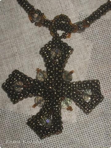 Колье-трансформер ,, Орхидея,, . Цветок отстёгивается и может применяться как брошь. Применялся речной жемчуг и турмалин. Листики выполнены по схеме двухстороннего американского жгута, лепестки -   листик -рюш. фото 13