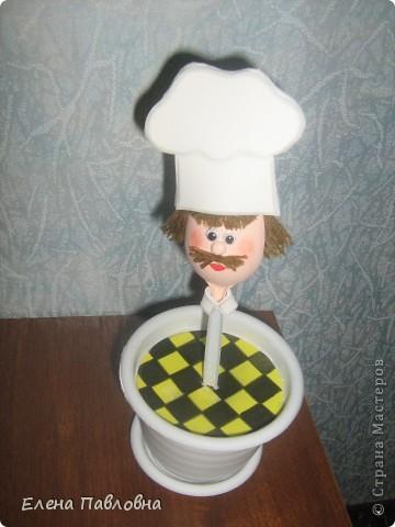 """Добрый день!Сегодня """"сварганила"""" вот такого поваренка на кухню. фото 2"""